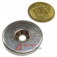Magnes neodymowy 20x7/3,5x3 N42