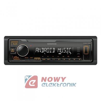 Radio samoch.KENWOOD KMM-105AY USB/AUX AMBER podświetlenie