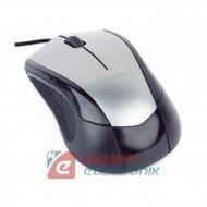 Mysz optyczna GEMBIRD MUS-3B-02 czarno-szary USB