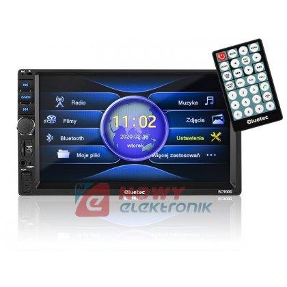 Radio samoch.BLUETEC BC9000 2DIN Bluetooth/PILOT  4x50WATT USB/SD/MMC