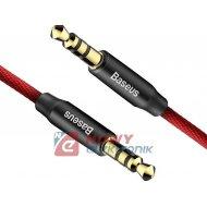 Kabel jack 3,5st wt.-wt. BASEUS AUDIO 1.5m Red+Black