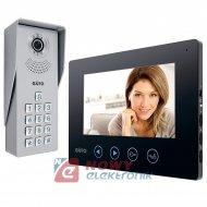 """Videodomofon EURA VDP-12A3 TYTAN Czarny 7"""" pamięć szyfrator (zestaw)"""