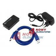 HUB USB 3.0 4-portowy AKTYWNY z zasilaczem 5V
