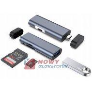 HUB USB TYP C 3.0 SD micro adapter rozdzielacz