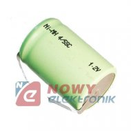 Akumulator do pakietu 4/5SCZB 2000mAh 1,2V (z blaszk.) 22x33mm
