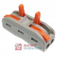 Szybkozłączka 2/4-tor drut/linka zacisk złączka elektryczna