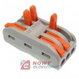 Szybkozłączka 3/6-tor drut/linka zacisk złączka elektryczna