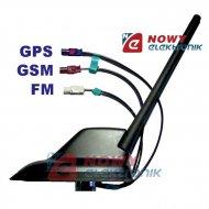 Antena sam. dachowa FM+GPS+GSM aktywna-Płetwa Rekina VW AUDI FAKRA ORYG