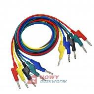 Kable pomiarowe zestaw NR18   HQ 1m 5szt przewody banan 1000V 15A