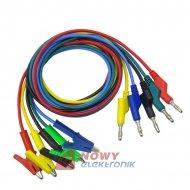 Kable pomiarowe zestaw NR21   HQ 1m 5szt przewody banan 1000V 15A