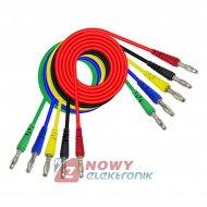 Kable pomiarowe zestaw NR23   HQ 1m 5szt przewody banan 1000V 10A