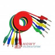Kable pomiarowe zestaw NR24   HQ 1m 5szt przewody banan 1000V 10A