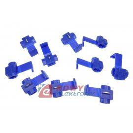 Zestaw szybkozłączek 10szt BLUE 1-2,5mm do przewodów samochodowych