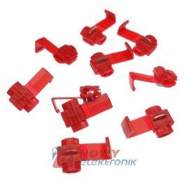 Zestaw szybkozłączek 10szt RED 0,5-1,5mm RED do przewodów samochodowych