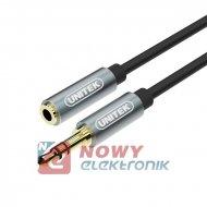 Kabel jack 3,5st wt.-gn. 1m UNITEK Y-C932ABK