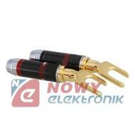 Wtyk pod gn.banan karbon złoty złoty na kabel 6mm LA952 Vitalco