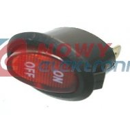 Przełącznik podśw.czerwony AC owalny