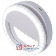 Lampa SELFIE Led do telefonu z ł Ładowaniem GSM FOTO