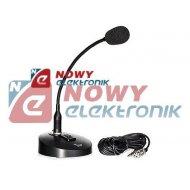 Mikrofon gęsia szyjka 40cm MH805 giętki uchwyt 40cm
