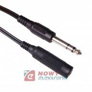Kabel jack 6,3st wt.-gn. 5m
