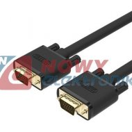 Kabel do mon. HDB15M/M 10m VGA PREMIUM UNITEK Y-C506G SVGA