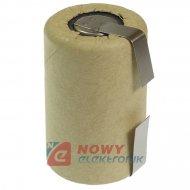Akumulator do pakietu 4/5SCZB 1300mAh 1,2V (z blaszk.) 22x33mm