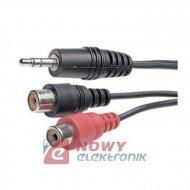 Kabel jack 3,5st-2*RCA gniazda