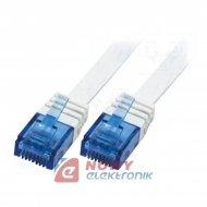 Kabel LAN kat.6 UTP 2m biały lin Linka