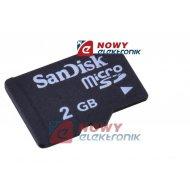 Karta pamięci miniSD 2G QUER 2GB  z adapterem na SD
