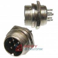Gniazdo męskie NC517(6-M) 6-pin 4A 125V