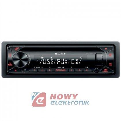 Radio samoch.SONY CDX-G1301U Amber pomarańczowy CD+USB