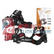 Latarka czołowa XM-L T6 CREE 6W LED zoom  profesjonalna