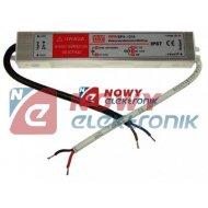 Zasilacz ZI LED 12V/1.25A IP67 15W Impulsowy aluminium HERMETYCZNY