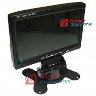 """Monitor LCD-TFT 7"""" STAND-ALONE 12/24V 2xAVin do kamera cofania"""