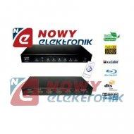 Przełącznik HDMI 5X1 z pilotem ze wzmacniaczem (sumator)