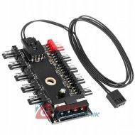 Adapter MOLEX rozdzielacz HUB zasilania wentylatorów 10 4 pin