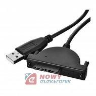 Adapter wt.USB-wt. slim SATA mini 13 PIN przejście do DVD