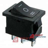 Przełącznik kołyskowy HQ 3pin/3p kołyskowy mały czarny