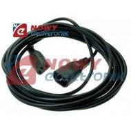 Kabel zasil. PC 5M łącznik WN-12 C14-C13  przedłużacz