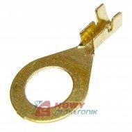 Konektor oczkowy 8.2mm złote i srebrne