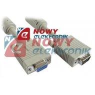 Kabel do mon. HDB15M/F 10m VGA SVGA