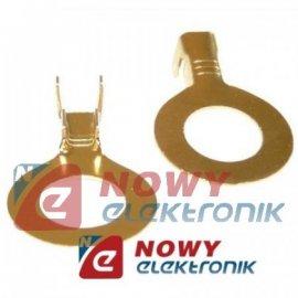 Konektor oczkowy 8mm złote, srebrne