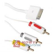 Kabel APPLE 30p - 3xRCA  AV IPhone iPad ICIDU