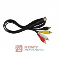 Kabel DIN-4*RCA 2,5m