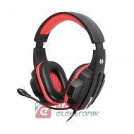 Słuchawki nauszne z mikr.TRACER GAMEZONE EXPERT RED 2xjack 3,5mm
