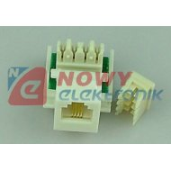 Gniazdo tel. RJ-11 Keystone 6P4C telefoniczne moduł adapter