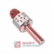 Mikrofon bezprzew.PRM402 BLOW różowo-złoty karaoke głośnik