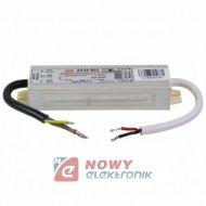 Zasilacz ZI LED 12V/0.83A IP67 A 10W Impulsowy aluminium