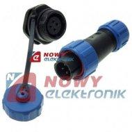Złącze 4-styk.kpl.herm.SP-13-10 IP68 5A 250V 13mm  wodoszczelne