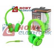 Słuchawki LTC77 nauszne zielone jack 3,5mm